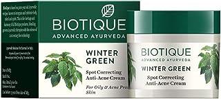 Biotique Bio Winter Green Spot Correcting Anti Acne Cream, 15g