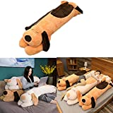 FgyFSAs Papa Dog Plush Toy Dog Doll, Long Stuffed Soft Sofa Pillow Toy Dog, PP Filled Cotton-Snuggle Buddy Toy, for Sleep, Watch TV,Birthday Gift,Suitable for All Ages 130cm Brown