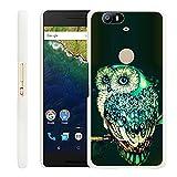 Huawei Nexus 6P Case Owl,Gifun Slim White Hard Back Case