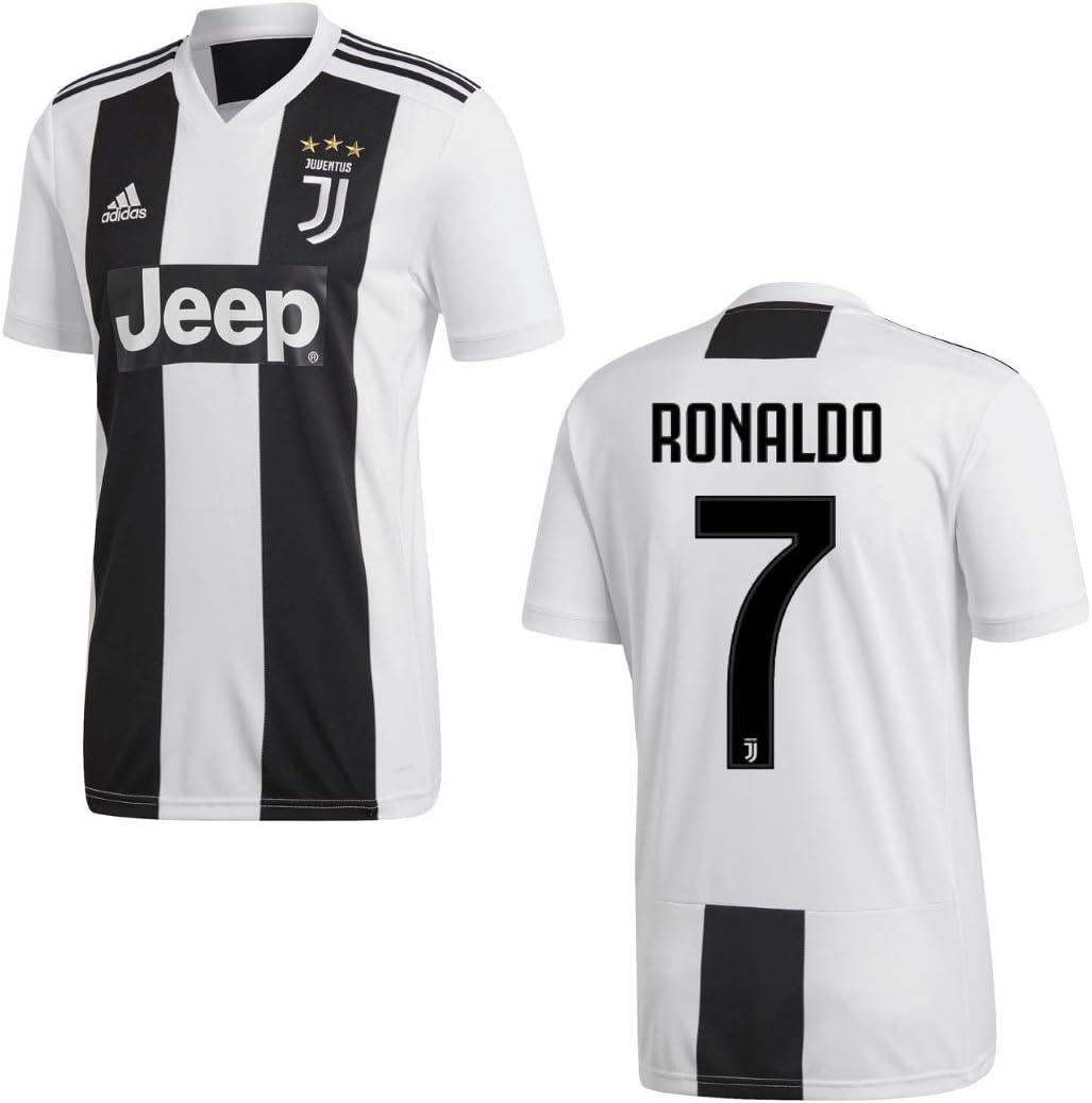 Adidas, maglia da calcio della Juventus Torino, 2018 2019, Ronaldo 7, per uomini e bambini