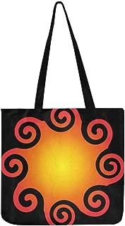 Sol Summer Heat Spiral Radius Beach Mar Sunset Canvas Tote Handbag Shoulder Bag Crossbody Bags Purses For Men And Women Shopping Tote