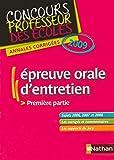 EPEUVE ORALE D ENTRETIEN