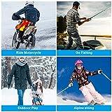 Doact Beheizte Weste, waschbar Heat Jacke Tuch für Körperwärmer in kalten Winter Outdoor-Aktivitäten Jagd Camping Wandern Skifahren, passt Männer Frauen (XL) - 4