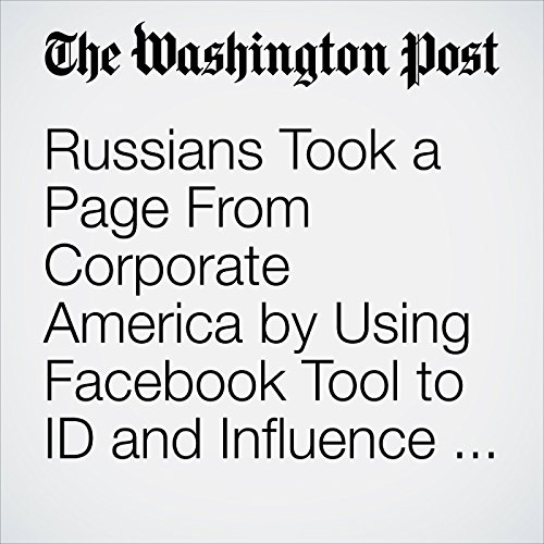 Russians Took a Page From Corporate America by Using Facebook Tool to ID and Influence Voters copertina