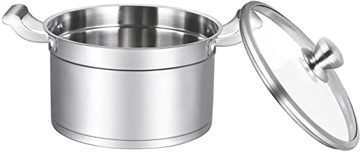 SHYPT Premium Multilayer Cookware Pots and Pans Set with Multilayer Heating System, Measuring Scale and Glass Lids,