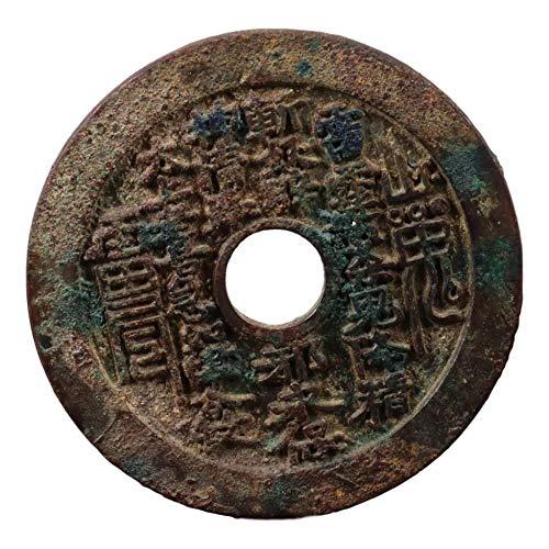 Laojunlu, moneda de cobre de fantasma de montaña, imitación de bronce antiguo, colección de joyas solitarias de estilo chino tradicional