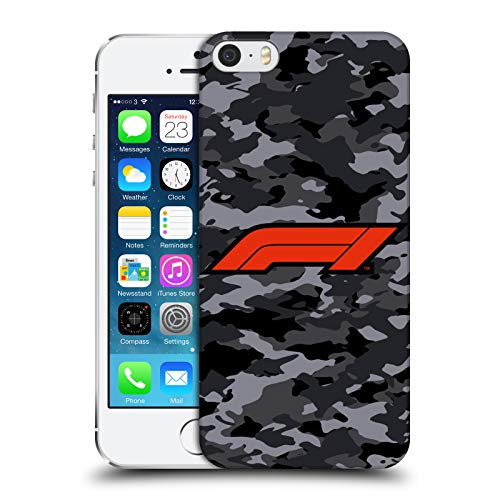 Head Case Designs Ufficiale Formula 1 F1 Camouflage Logo Cover Dura per Parte Posteriore Compatibile con Apple iPhone 5 / iPhone 5s / iPhone SE 2016
