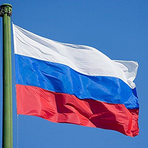 Grosse Russland Nationalflagge Russische Fahne 150 * 90cm / 5 * 3ft oesen Fuer Haengende