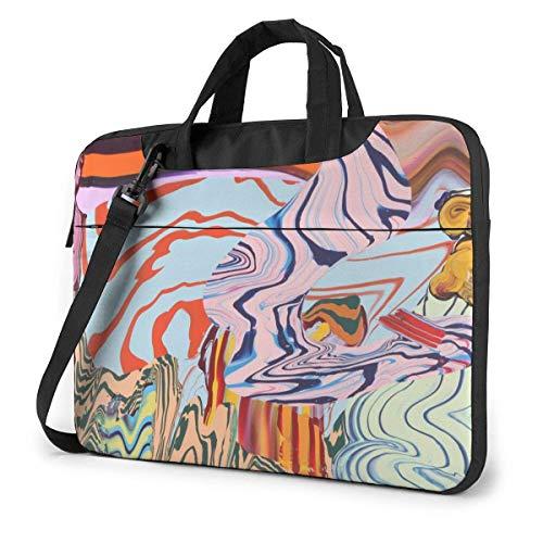 Abstracte Zebra-laptoptas schoudertas 15,6 inch messenger met aktetas handtas