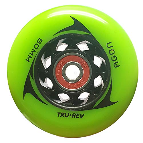 80mm Replacement Wheels for Razor Ripstik-Speed Wheels & Ceramic Speed Bearings- Urethane Matters Buy from the Experts We Re-Define Speed Trurev