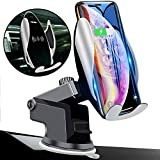Qi Wireless Car Charger Mount Automatic Clamping Peteme Dashboard Air Vent Gravity Sensor Phone Holder...