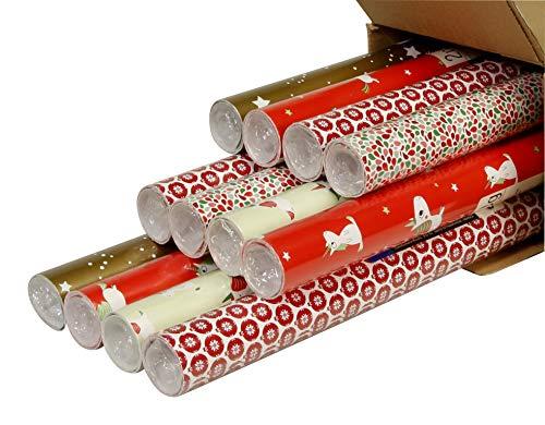 Clairefontaine inpakpapier, 2mx0.70m - Kerst Eenhoorn, 12 stuks