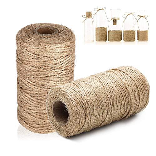 Cuerda de regalo,Cuerda de embalaje,Hilo de algodón,Cuerda de decoración de jardín,Cuerda de jardín de casa,Cuerda de decoración de boda,Cuerda de decoración de sala de estar (1mm,2pcs)