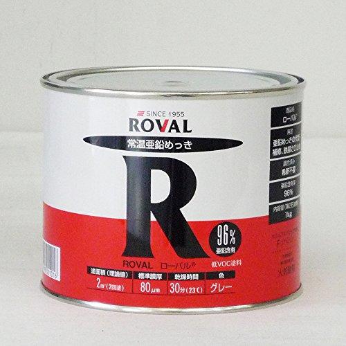 ROVAL-R ローバルR 【常温亜鉛めっき】1kg缶  グレー