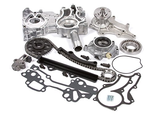 Evergreen TCK2000WOPT Compatible With Toyota 22R Timing Chain Kit w/Timing Cover, Water Pump & Oil Pump