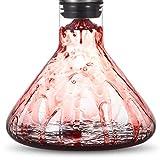 Cooko Wein Dekanter Belüfter, Wein Breather Karaffe mit Ausgießer Deckel, Mundgeblasenem Kristall Dekantierer, Luxus Wein Zubehör für Geschenk (1500ml) - 4