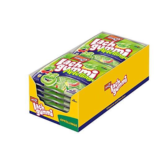 nimm2 Lachgummi Apfellinge (14 x 225g) / Fruchtgummi mit Fruchtsaft & Vitaminen