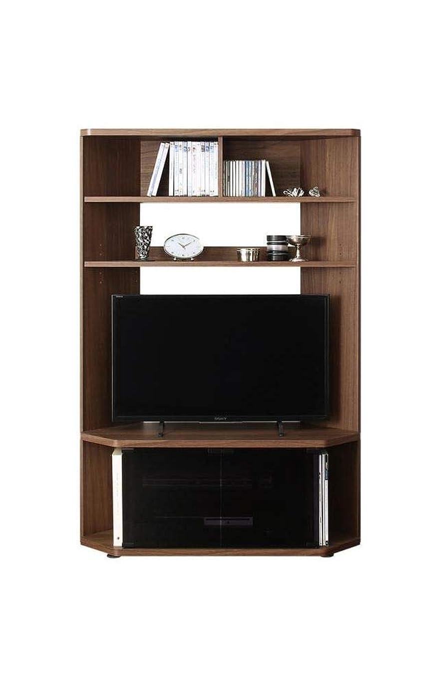 分同様にダッシュワンルームにも置ける超薄型スタイリッシュTVボード 40V対応可 キャスター付 コーナーにもフィット (ブラウン)
