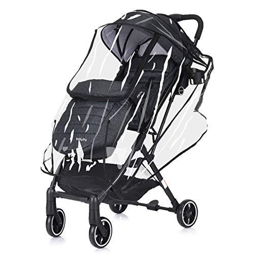 DREAMADE Kinderwagen mit Sonnenschirm und Regenschutz, Reisebuggy leicht und Klappbar, Kinderwagen mit liegefunktion Buggy, Sportwagen Kinderwagen Set, max. 15 kg belastbar (Dunkelgraun)