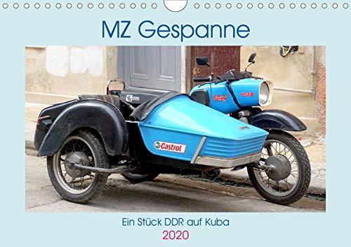 MZ-Gespanne - Ein Stück DDR auf Kuba (Wandkalender 2020 DIN A4 quer): Motorräder der Marke MZ mit Seitenwagen in Kuba (Monatskalender, 14 Seiten ) (CALVENDO Technologie)