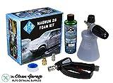 The Clean Garage MTM PF22.2 Foam Cannon Kit Magnum 28 Kit   SGS28 Gun Honeydew Snow Foam Combo