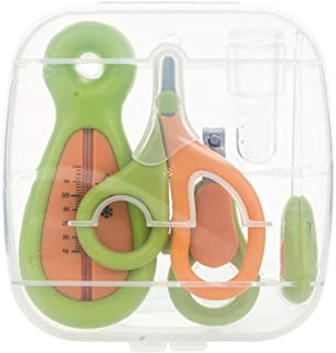 Baby Healthcare and Grooming Kit 6 Pieces Essential for Nursery Care with Storage Case - Green