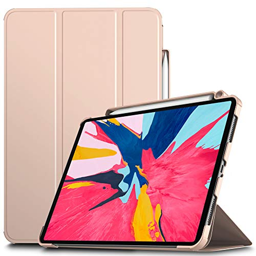 IVSO Cover Case voor iPad Pro 11, Slim PU Cover Case voor Apple iPad Pro 11 inch 2018, Roze
