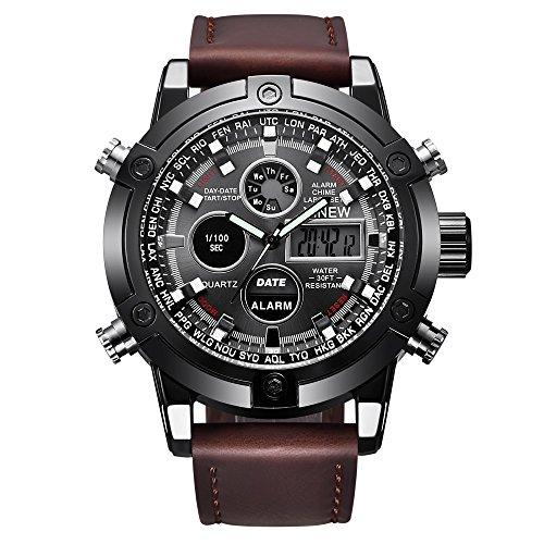 LYRICS Herren Armbanduhren Analog Display Quarz Uhren Exquisite Geschäfts Uhr mit Legierungsarmband Runde Zifferblatt Stilvolle Watches Für Männer schöne Deko