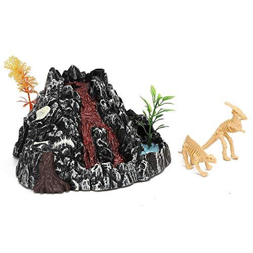 Redxiao 【𝐎𝐟𝐞𝐫𝐭𝐚𝐬 𝐝𝐞 𝐁𝐥𝐚𝐜𝐤 𝐅𝐫𝐢𝐝𝐚𝒚】 Modelo de Dinosaurio volcán de Alta simulación, Juguete Modelo de Dinosaurio volcán Exquisito Duradero Interesante, Chico eléctrico