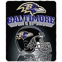 "NFL Baltimore Ravens Gridiron Fleece Throw, Purple, 50"" x 60"""