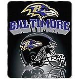 NFL Baltimore Ravens Gridiron Fleece Throw, Purple, 50' x 60'