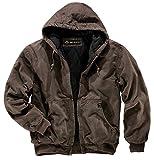 DRI Duck Men's 5020 Cheyenne Hooded Work Jacket, Tobacco, Medium