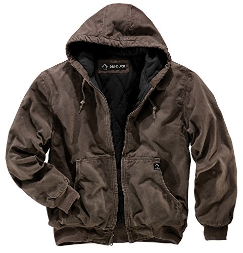 DRI Duck Men's 5020 Cheyenne Hooded Work Jacket, Tobacco, Large