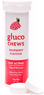 Glucology®Fast Acting Glucochews | Raspberry Flavour | 60 Chews (6 Pack)