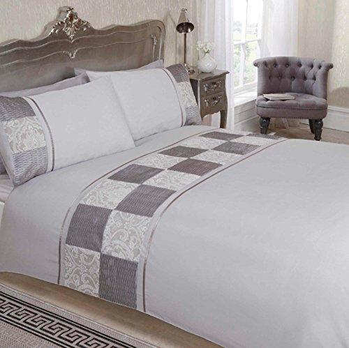 Bedding Heaven Beautiful batiste Patchwork Housse de couette brodée, blanc, Simple
