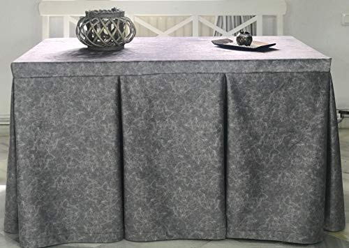 INUSUAL Falda o Ropa de Camilla Rectangular Invierno 120X70X72 Modelo IBI, Textura Suave Satinado...