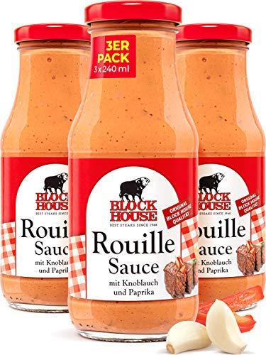 Block House Rouille Sauce 3x 240ml für Fleisch oder Fisch - in Restaurantqualität