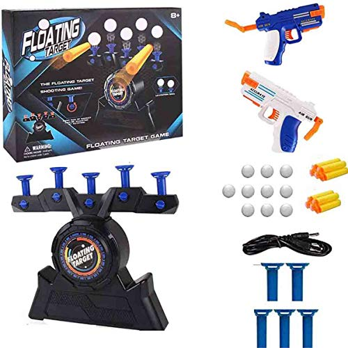 Floating Target Shooting Game, Electric Hover Shooting Floating Target Game Set, Air Shot Hovering Foam Ball Scoring Targets Toys, for Kids Shooting Toy Gifts Fun Party Supplies