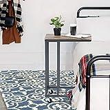 Furniture-R France Tavolino laterale su ruota supporto per laptop con ruote girevoli a 360 gradi a forma di C
