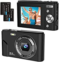 Digital Camera 1080P FHD 2.4 Inch Compact Camera, 36 Megapixel Photo Camera Mini Digital Camera with 2 Batteries, 16X...