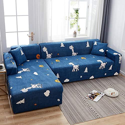 Topashe Funda de Sofá Elástica Punto,Funda de sofá con Todo Incluido, Funda de sofá elástica-H_235-300cm,Sillón Elastano Fundas de Sofá