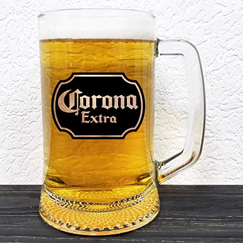 Corona Extra Glass Stein - Beer Label - Gift For Him - Wedding Mug - Personalized Mug - Gift For Men Who Have Everything - Gift Ideas For Men