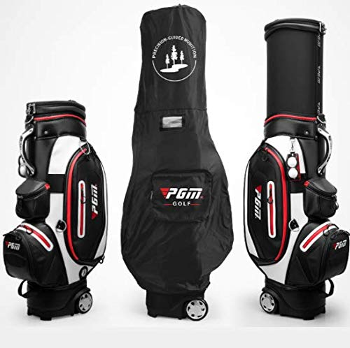 Purchase POSMA PGM-QB054BLK Water-Proof Golf Stand Bag, Golf Club Carry Bag with Wheels