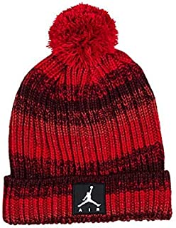 NIKE Youth Kids' Jordan Ombre Beanie Ski Cap Hat, Gym Red/Burgundy, Size 8/20