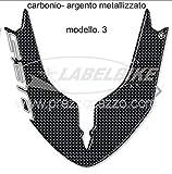 Pegatina 3D Ergal Guardabarros Compatible Scooter Yamaha Tmax 530 2015-2016 - Carbono Plata