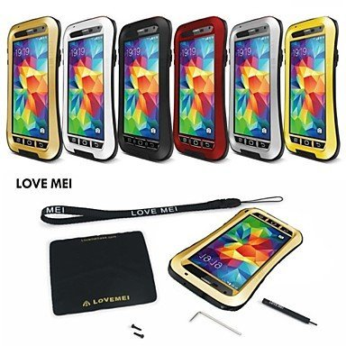 Love Mei Wasserdicht Stoßfest Aluminium Gorilla Metall Schutzhülle für Samsung Galaxy S5I9600(verschiedene Farben)