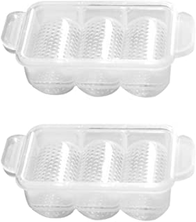UPKOCH 2pcs Sushi Mold 3-Grids Rice Ball Maker Press Bento Tool DIY Sushi Accessory for Home Restaurant