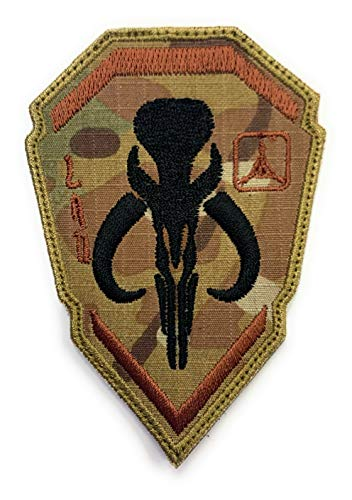 Mandalorian Boba Fett Emblem Star Wars Bounty Hunter - Funny Tactical Military Morale Embroidered Patch Hook Backing(Camouflage)