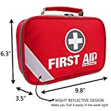 First Aid Kit (215 Piece) + Bonus 43 Piece Mini First Aid Kit - Includes Emergency Blanket, Bandage, Scissors for Home, Car, Camping, Office, Boat, and Traveling