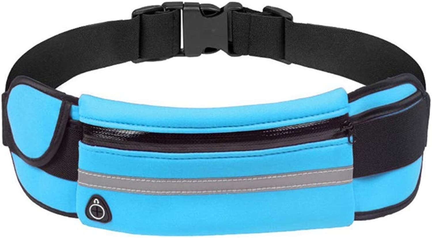 Sport Exercise Hiking Waist Bag Fanny Pack, Adjustable Runners Belt with Water Bottle Holder Unisex for Workouts Cycling Travelling Outdoors,blueee